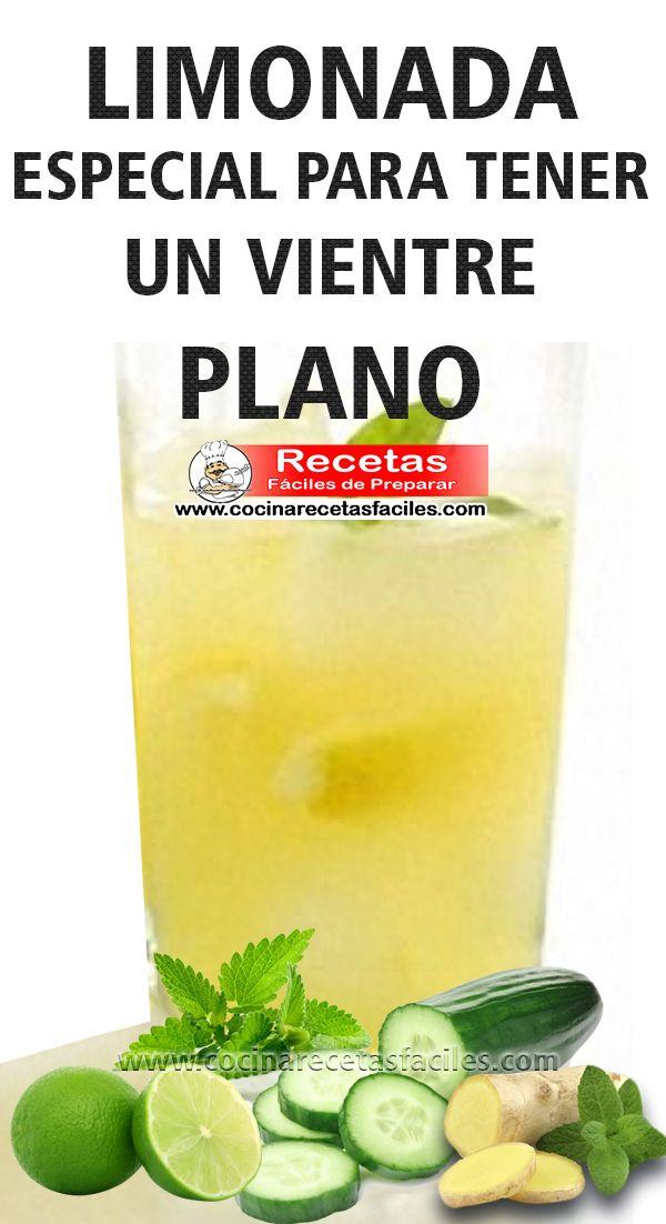 Receta de limonada especial para vientre plano
