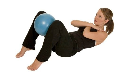 Aeromat Pilates Balance Ball With Pump  www.BeBodySmart.com