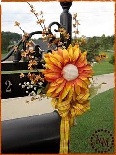 Decorate your mailbox....no yellow and more burt orange!!