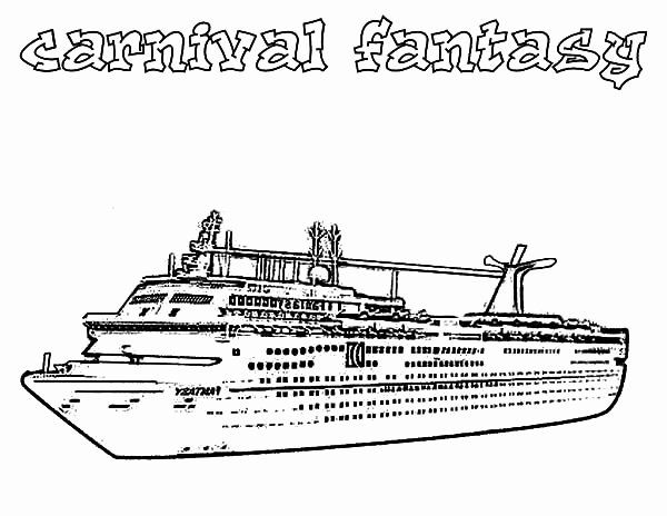 Disney Cruise Coloring Pages Awesome Cruise Ship Coloring Pages In 2020 Carnival Fantasy Cruise Coloring Pages Carnival Fantasy