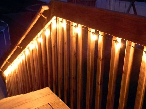 String Lights On Deck Railing : 200 best images about porches, overhangs, decks on Pinterest Porch roof, Arbors and Garage