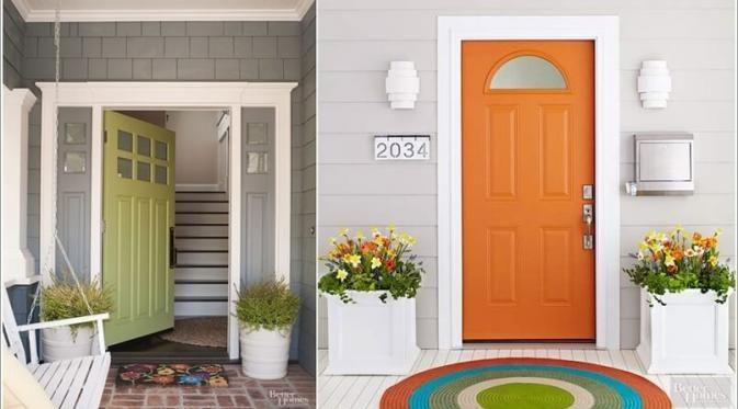 10 Ide Dekorasi yang Bikin Pintu Depan Rumahmu Jadi Makin Cantik - Feed Bintang.com