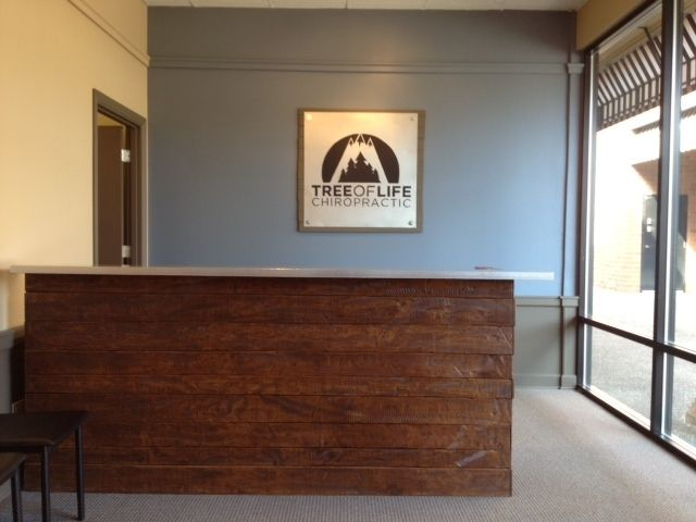 Custom Made Reception Desk For A Chiropractic Office Pinterest Desks And