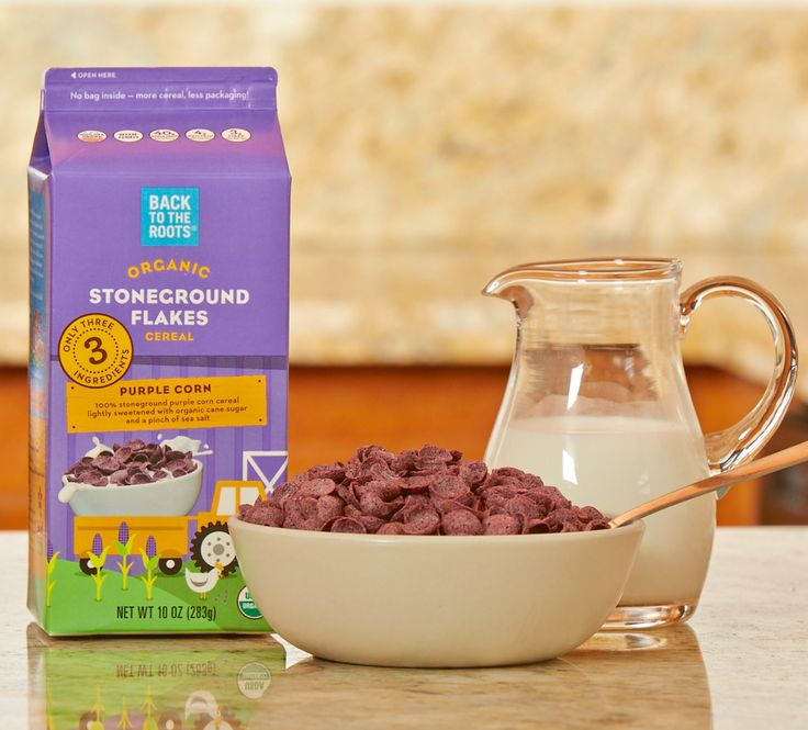 Check out these amazing PURPLE corn flakes! Made with Minnesota corn and only 3 ingredients.
