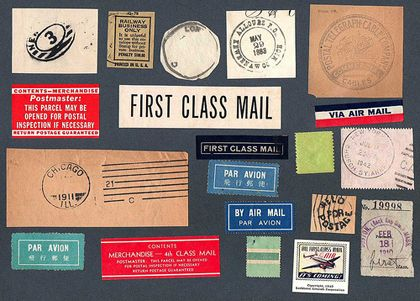 28 best vintage mail themed party images on Pinterest Cards - free mailing label