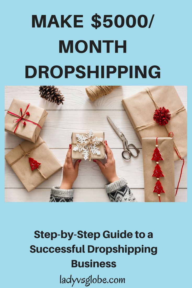 Make $5000 per month dropshipping. This step by step guide reveals the secrets to a successful dropshipping business from day one.