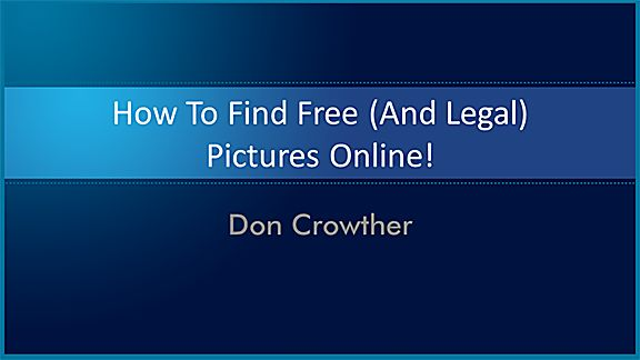 How to find free (and legal) pictures online: CREATIVE COMMONS