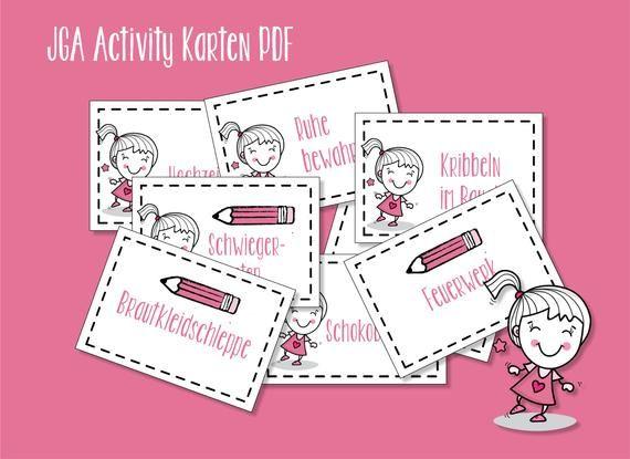 Jga Junggesellinnenabschied Activity Karten Pdf Bridal Shower Book Cover Games