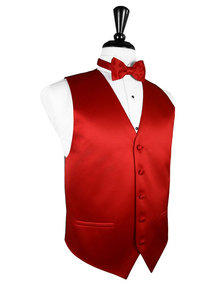 Scarlet Red Premier Satin Tuxedo Vest Scarlet Red Tuxedo Vest Luxurious Premier