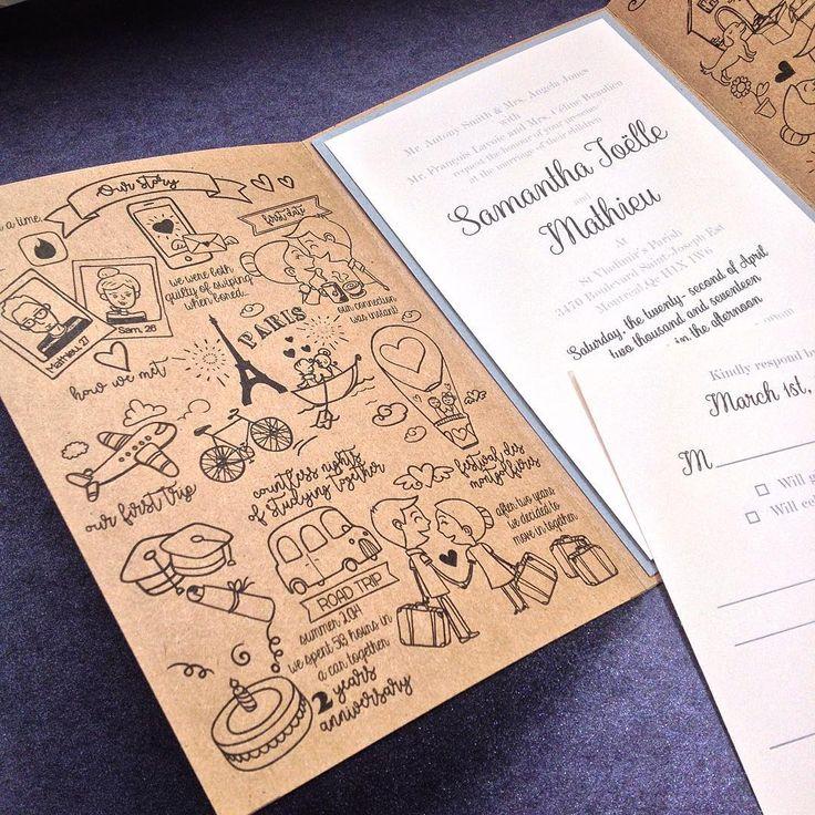 Montreal Wedding Invitations: 68 Best Faire-part Valencia Pierre, Montréal Images On