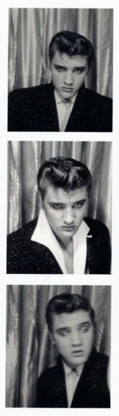 Elvis in a photo booth, 1950s | Retronaut