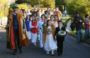 May Day procession in Ansty