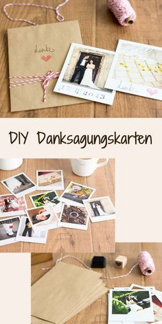 Danksagungskarten selber machen: http://www.gofeminin.de/hochzeitsplanung/hochzeit-dankeskarten-s1384322.html  #diy #doityourself