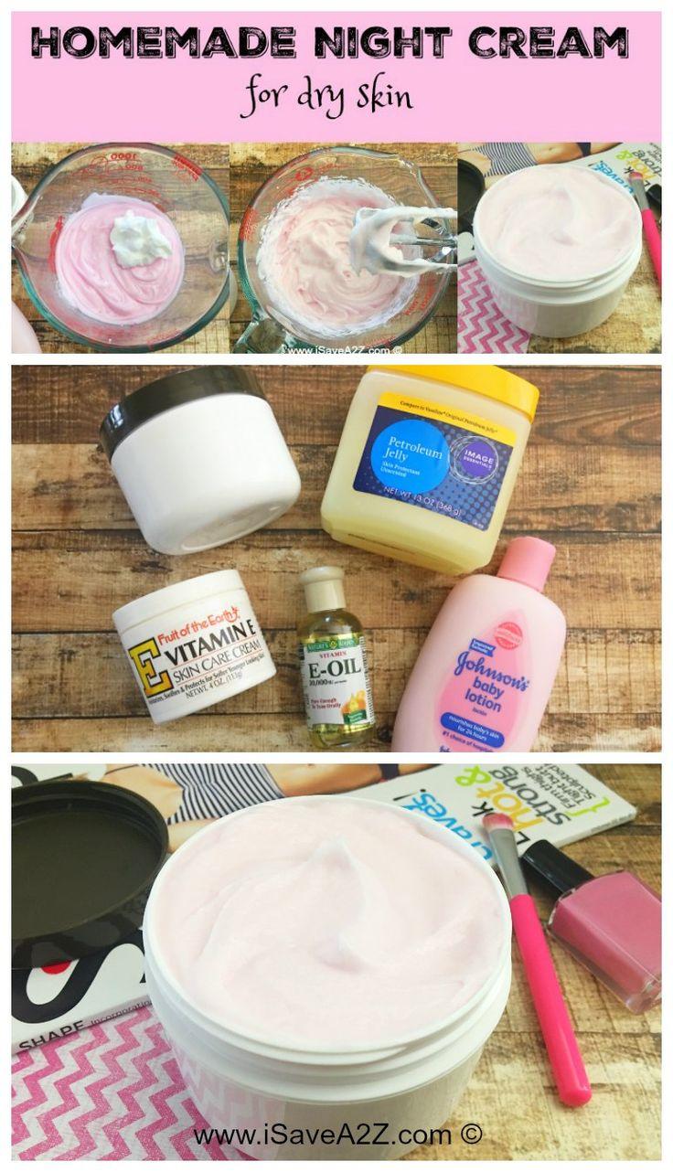 Homemade Night Cream for Dry Skin - iSaveA2Z.com