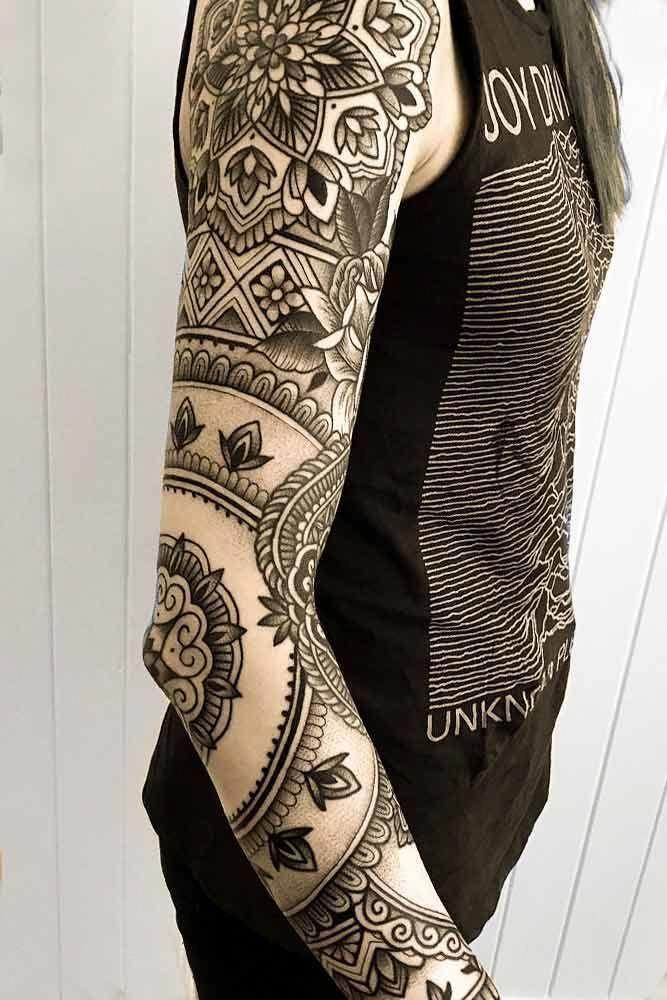 Cool Sleeve Tattoo Mandala Tattoo Sleeve Full Sleeve Tattoos Sleeve Tattoos