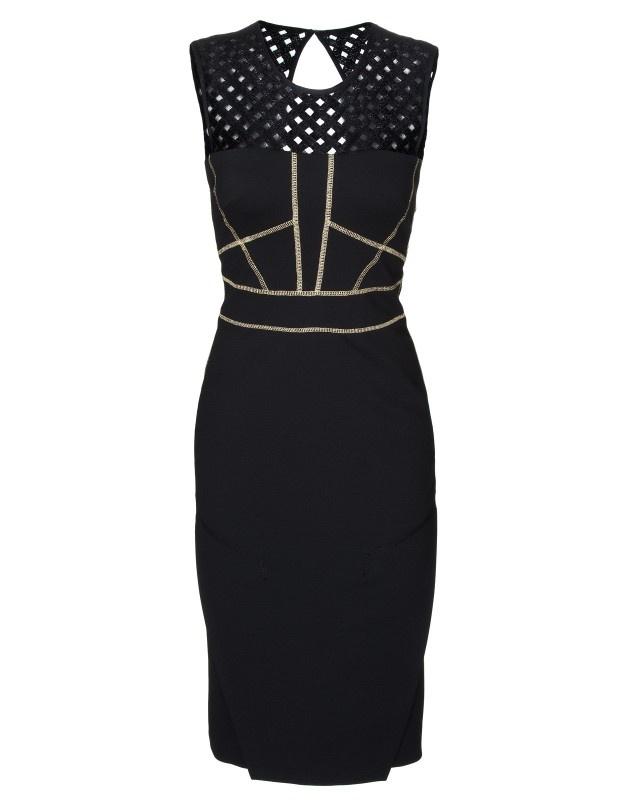 Cynthia Rowley - Lattice Shoulder Cocktail Dress - Sale