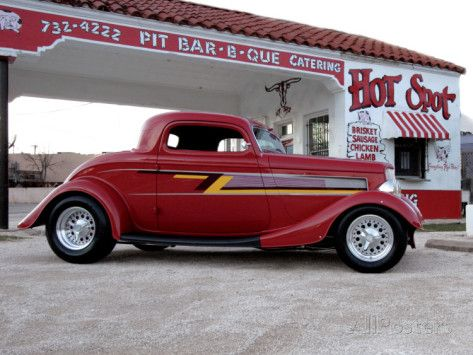 Billy F. Gibbons ZZ Top Car Photographic Print by David Perry at AllPosters.com