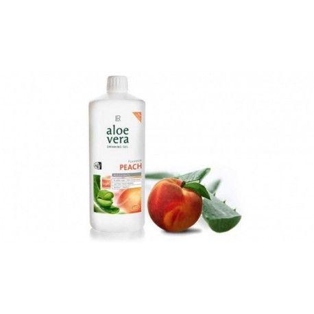 Aloe Vera Peach Drinking Gel, Senza Zuccheri aggiunti, 98% di Aloe Vera. Fornisce il 100% del fabbisogno giornaliero di Vitamina C, particolarmente adatto per soggetti diabetici. Al Gusto Pesca. Dose Giornaliera Consigliata: 30ML per 3 volte al giorno 1000ML