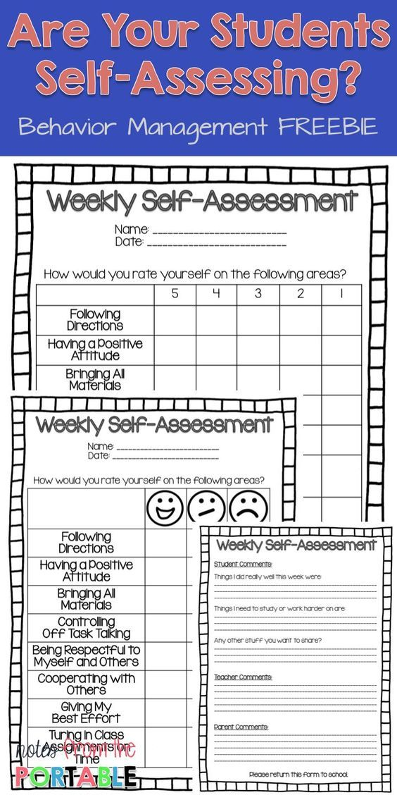 Put weekly assessing in the hands of the students with this FREE Weekly Self-Assessment.