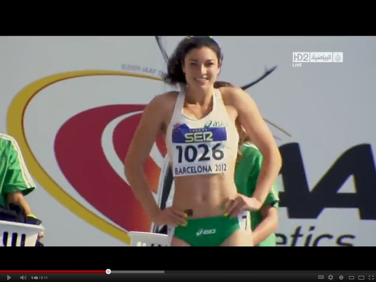 Irresistible -- Michelle Jenneke -- America's new Sweetheart (she's from Australia) -- Olympics 2012 { http://www.youtube.com/watch?v=9EIveHwQcgUI }