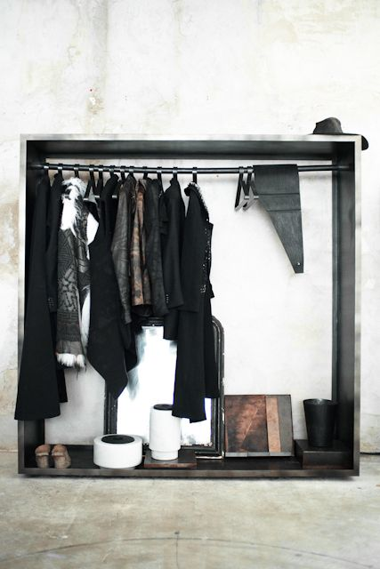 SOME/THINGS WARDROBE, WITH AREA DI BARBARA BOLOGNA BELT, NO NO YES! IPAD CASES, GUIDI CLOGS, TSOLO MUNKH FUR, RICK OWENS LEATHER JACKETS, NICOLAS ANDREAS TARALIS TAILORED JACKETS, BORIS BIDJAN SABERI FELT WRAPS, MAD ET LEN CANDLE AND MARBLE VASES BY MICHAEL VERHEYDEN