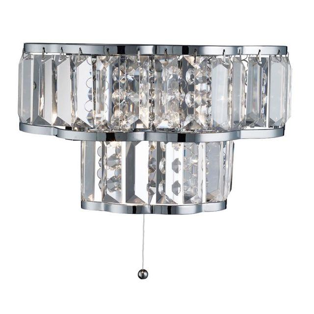 9472-2CC HAYLEY - krištáľové nástenné svietidlo