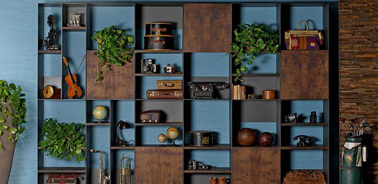 Kirjahylly Karma, valmistanut Cierre, Designer Marco Fumagalli
