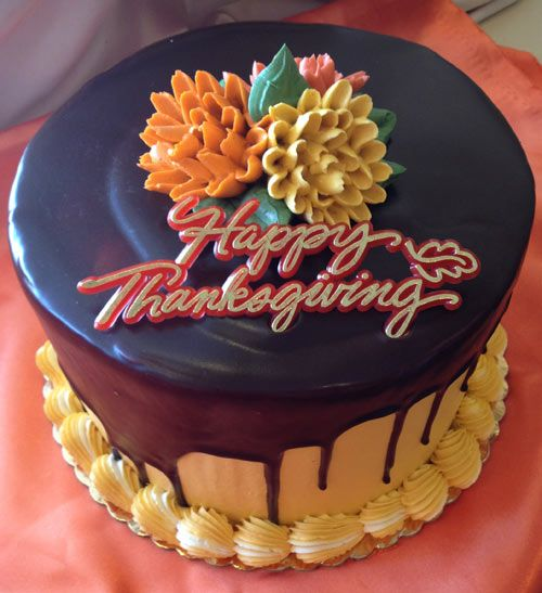 thanksgiving holiday cakes | cake and buttercream leaf cake make beautiful table center pieces