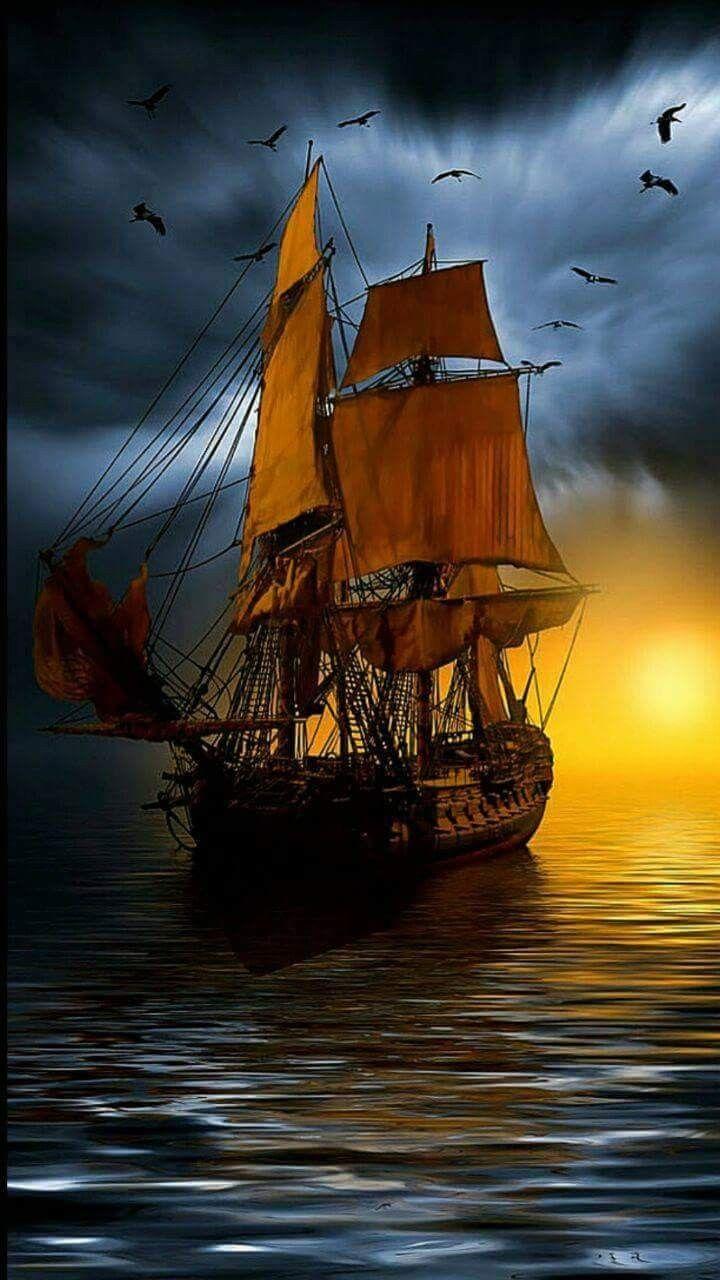 Картинки пиратский корабль на телефон, клубники
