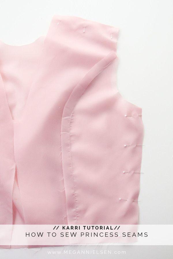How to sew princess seams // A Karri dress tutorial