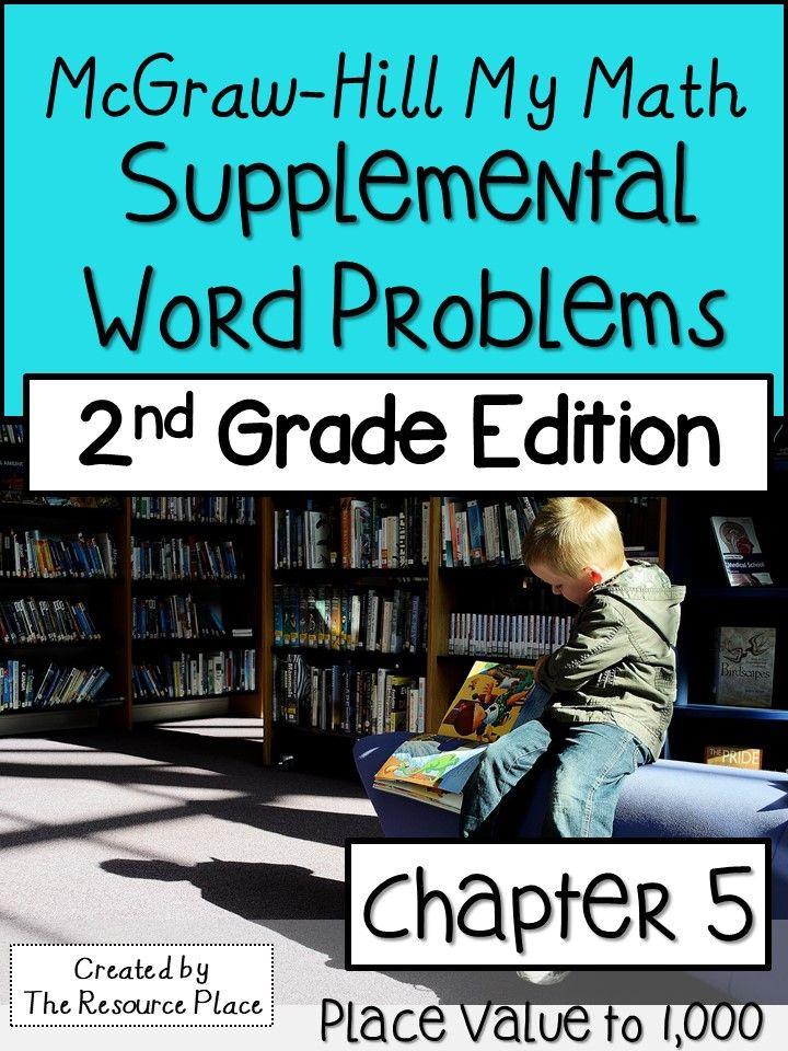 2nd Grade My Math Supplemental Word Problems-Chapter 5   Teaching K ...