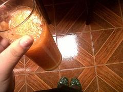 3 Manzanas, 1 zanahoria, agua y Stevia