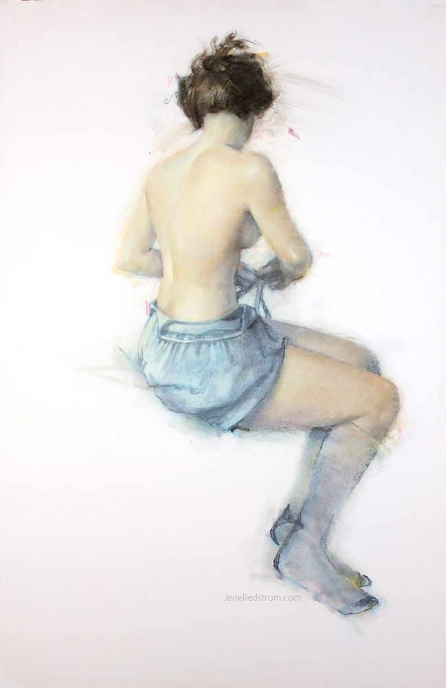 Pastel Drawing & Mixed Media on Paper by Jane Radstrom