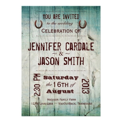 Country Style Invitations