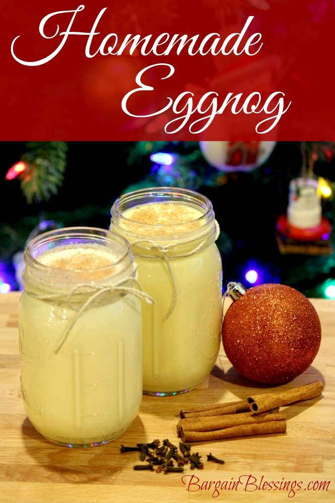 Impress your friends and family this season with this delicious homemade Eggnog recipe! #christmasreceipes