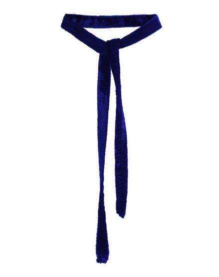 LH's Basic Velvet Choker Necklace NAVY-BLUE #Velvet #Choker #Necklace #NAVYBLUE #silk #laurahincu