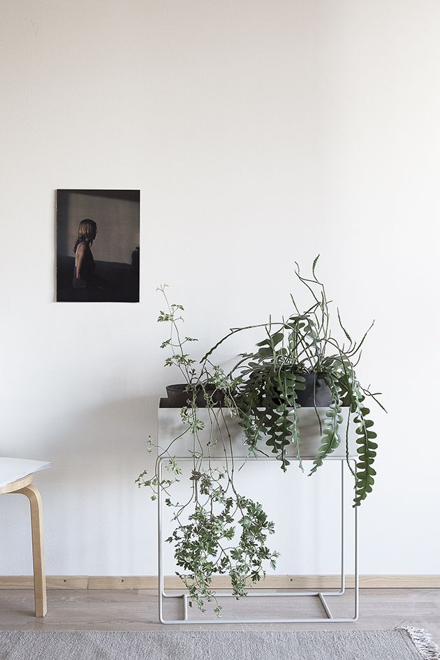 "From Ferm Living, this timeless piece is designed as a stunning planter or beautiful storage solution for all living spaces. Made of Powder coated metal Dimensions: W 23.5"" x H 25.5"" x D 10"" (60 x 65"