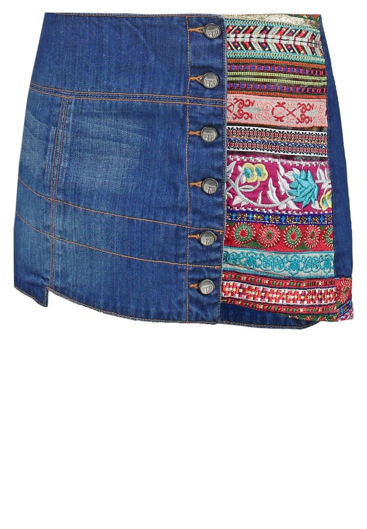 Desigual MANUEL Spódnica jeansowa denim electric blue