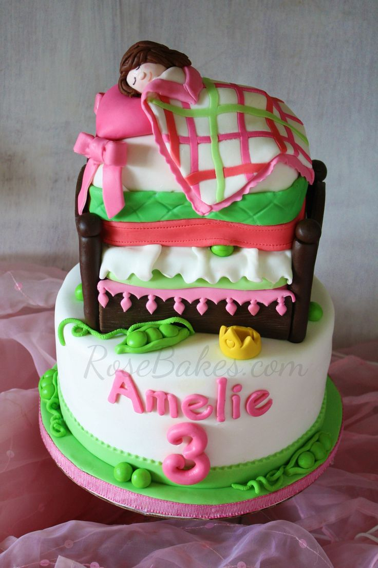 The Princess and the Pea Bed Cake