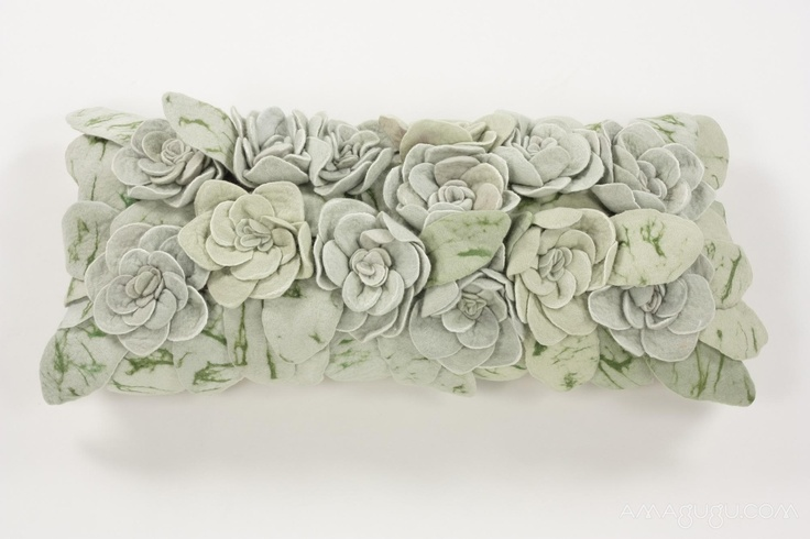 Succulent Cushion by Ronel Jordaan