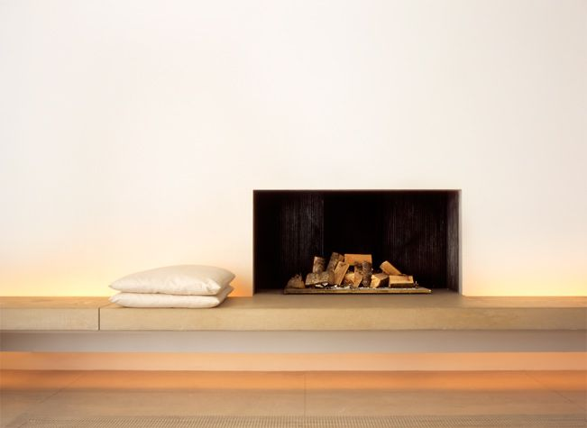 Fire place inside John Pawson's own house.