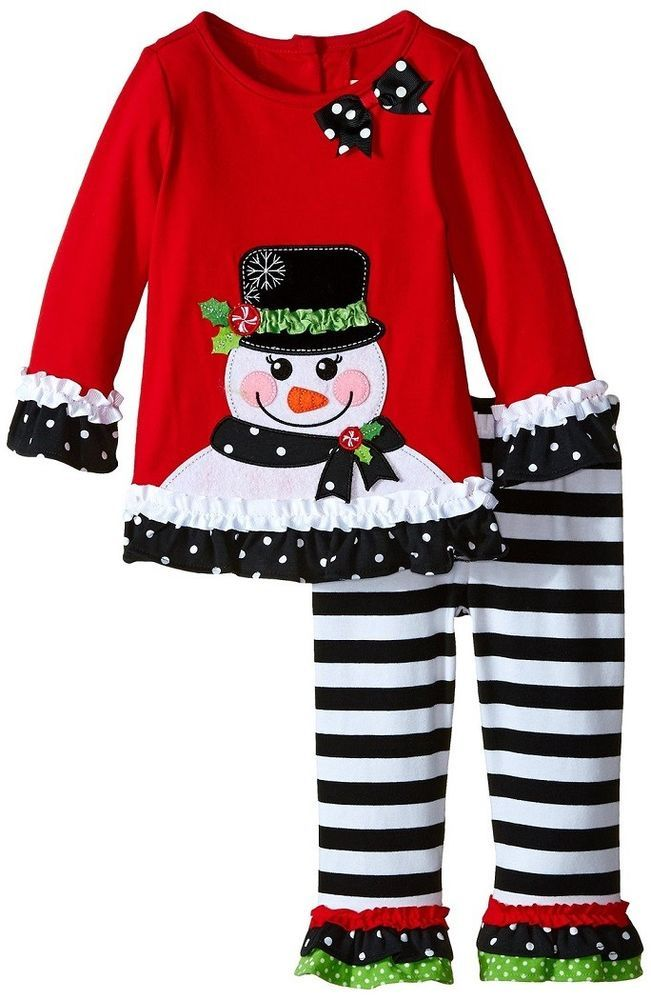 043d54c6aab0 Rare Editions Toddler Girls Christmas Holiday Snowman Dress Leggings Outfit  2T #RareEditions #EverydayHoliday