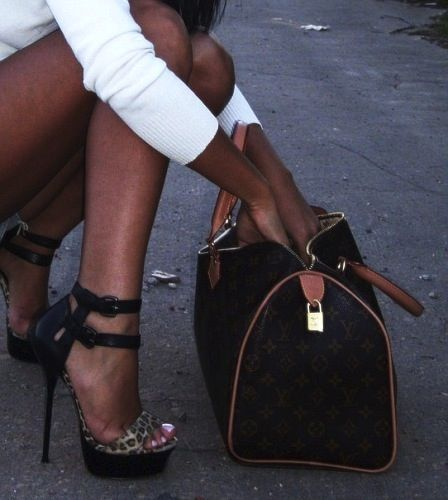the shoes! and never place your bag on the ground. brings you bad luck!