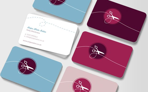 A simple, stylish design for the hairdresser or hair stylist. Whether you work in a salon or from the homes of clients, this colourful pack will help to promote your business #moocard #businesscard