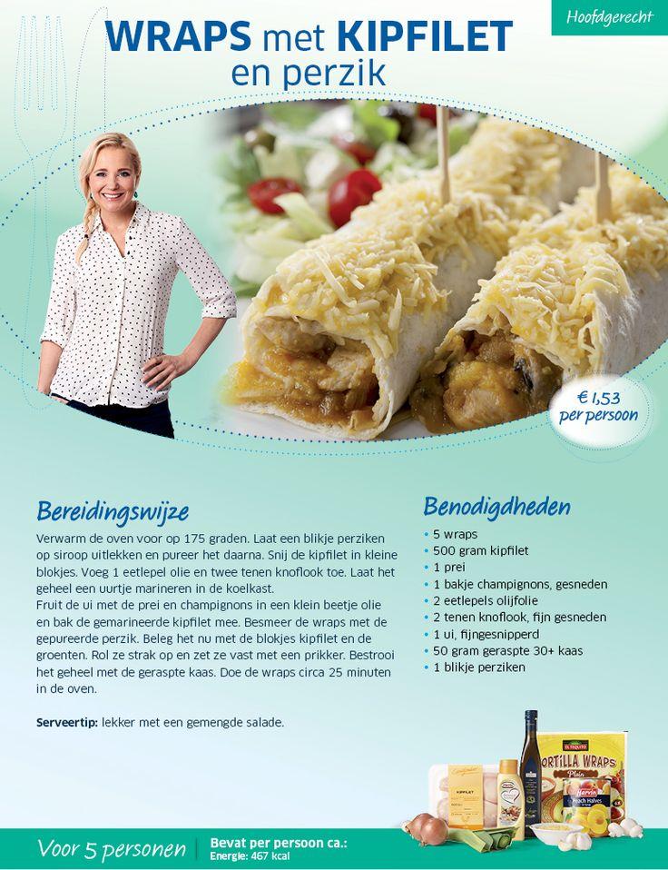 ≡ Wraps met kipfilet en perzik