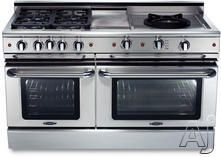 "Capital Precision Series GSCR604QWN  60"" Pro-Style Gas Range with 4 Power-Flo Sealed Burners, 24"" Power-Wok, 12"" Infra-Q Barbecue, 4.6 cu. ft. Primary Oven Capacity, Convection Oven and Motorized Rotisserie System (Exact Image Not Shown): Natural Gas"