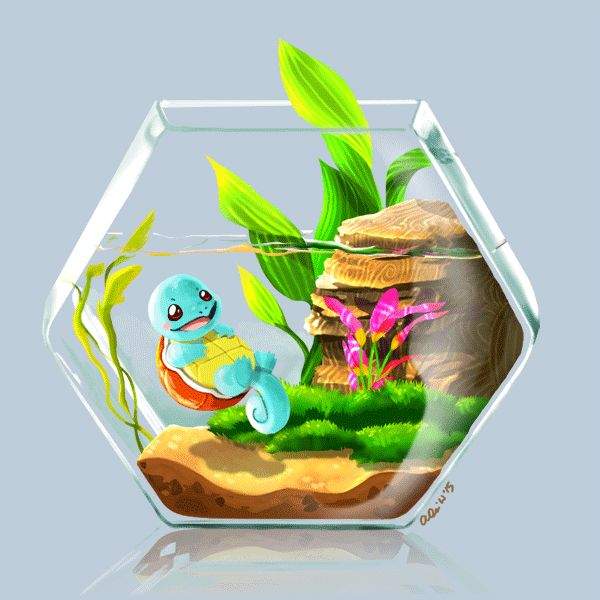 da-imaginarium: Sketch 88: Wee Bitty Squirtle The second in my Pokemon terrarium series. Squirtle was my first ever Pokemon (back when I was playing on a gameboy color!!) so he has a special place in my heart ^^ In case you missed it, here's my BULBASAUR.