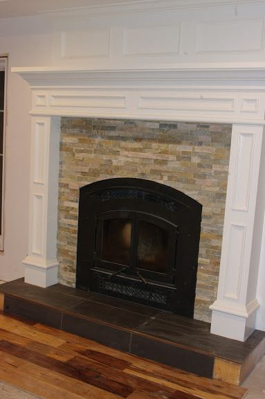 Tile Fireplace Surround Ideas | There was some suggestions to paint the front of the hearth white but ...