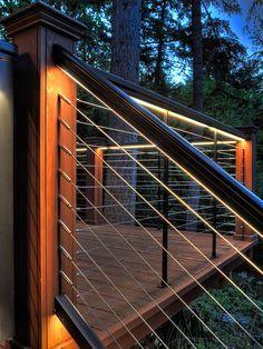 LED handrail lighting - Google Search