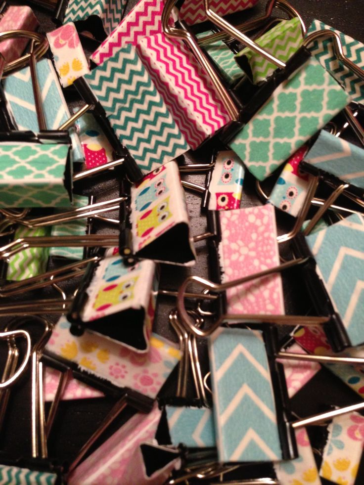 Washi Tape Project: Binder Clips